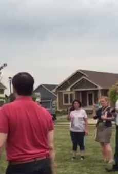 Watch Marco Rubio hit this kid in the head with a football