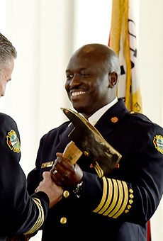 Chief Roderick Williams, right.