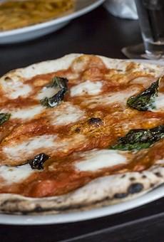 A hand-built Stefano Ferrara pizza oven is Bavaro's shining star