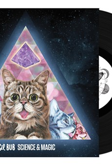 Local artist Johannah O'Donnell did the artwork for magical space alien dwarf kitty Lil BUB's new album