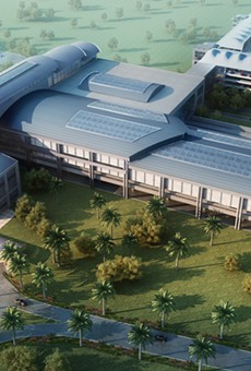 An artist rendering of the Orlando station