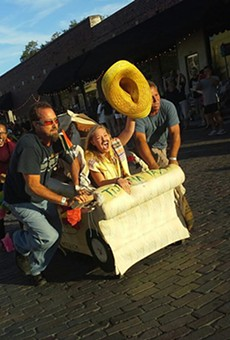 Racing couches take over downtown Sanford on Sunday for Sofas and Suds
