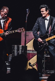 Unknown Hinson and the Reverend Horton Heat at Southern Fried Sunday's 10th anniversary (Will's Pub lot)