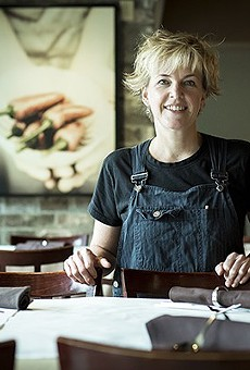 Chef Kathleen Blake at her downtown restaurant, the Rusty Spoon