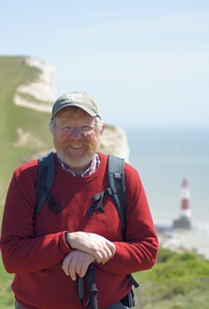Celebrated author Bill Bryson stops at Rollins College's Warden Arena Monday evening
