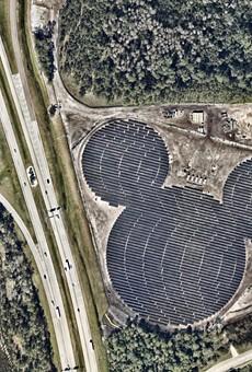 Solar-powered hidden Mickey takes shape at Walt Disney World