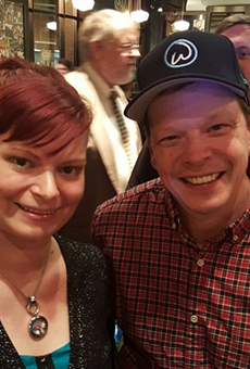 Jillycakes owner Jillian Kopke with Wahlburgers owner and chef Paul Wahlberg.