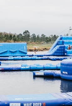 Lake Nona's giant inflatable water obstacle course and adventure park opens this Saturday