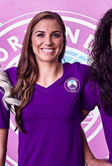 You might stumble on an Orlando Pride scarf today, hidden somewhere in Orlando