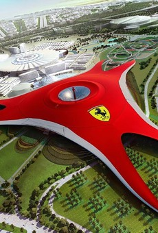 A rendering from the Abu Dhabi Ferrari theme park.