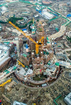 Construction at Walt Disney World in Shanghai