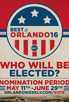 Nominate your local favorites in Orlando Weekly's Best of 2016 polls
