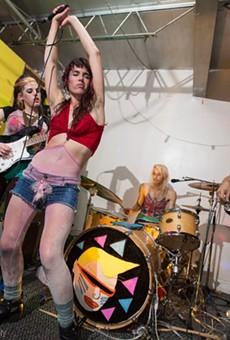 Period Bomb blends riot grrrl ferocity and postpunk weirdness at Uncle Lou's