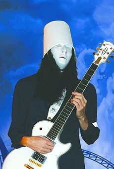 Mysterious guitar prodigy Buckethead shows off his chops at the Plaza Live