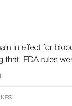 OneBlood says they are in fact enforcing ban on some gay blood donors