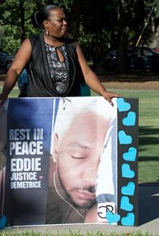 Survivors honor Pulse shooting victim Eddie Justice at Lake Eola vigil