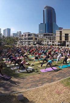 Lake Eola Park sees its 'largest outdoor yoga practice ever' at Central Florida Yoga Mass