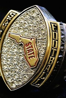 Florida State football players receive championship rings for being a pretty good team