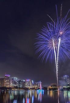 """""""Fireworks Over Lake Eola"""""""