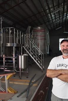 Playalinda Brewing Company Brewmaster Ron Raike at the Brix Project production brewery.
