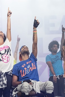 Pulse shooting victim Angel Colon dances for first time at Orlando Zumba convention