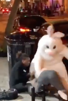 The Easter Bunny literally beat someone up in downtown Orlando last night