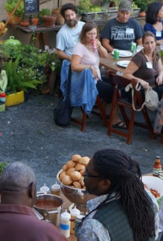 East End Market founder John Rife speaks at last year's FLFS
