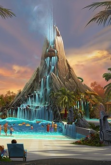 The yet to open Volcano Bay