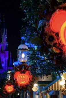 Mickey's Not-So-Scary Halloween Party decor at the Magic Kingdom
