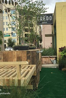Parking spots along Edgewater Drive get turned into pop-up parks for Parking Day
