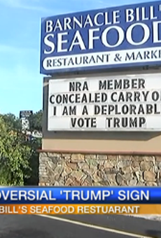 'I am a deplorable,' proudly states Sarasota seafood restaurant owner
