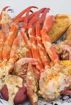 Snow crab & shrimp combo basket