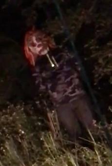 Creepy clown caught on video creeping around Central Florida