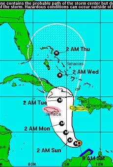 Hurricane Matthew briefly becomes Category 5 storm before weakening