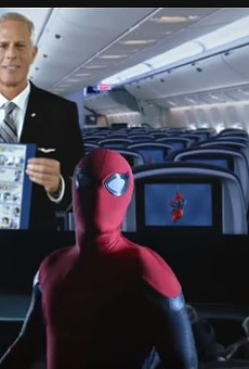 When Spider-Man tells you to buckle up, you buckle up – as shown in new United Airlines safety video (2)
