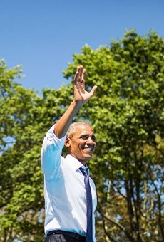 President Obama will be at CFE Arena today
