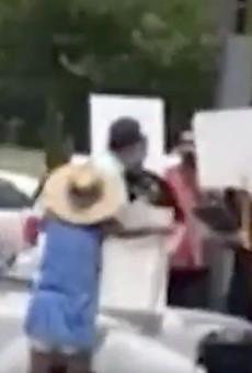 Florida Rep. Matt Gaetz got hit with a milkshake and a true hero got video