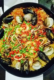Seafood paella at Tapa Toro.