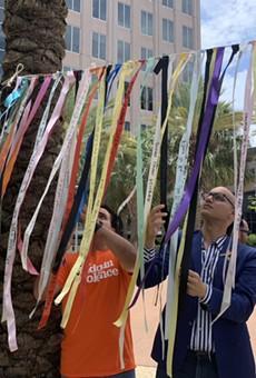 Pulse remembrance ribbons installed at Orlando City Hall