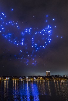 Disney Springs celebrates its first Christmas with a drone show sure to entice twinkle-light lovers