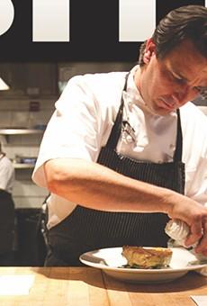 Brandon McGlamery in his kitchen at Luma on Park