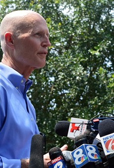 Gov. Rick Scott talks to the press regarding mass shooting at Orlando's Pulse nightclub.