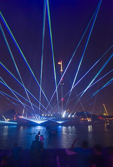 SaWorld Electric Ocean light show