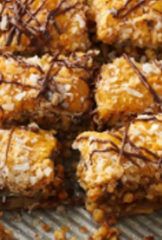 This is baklava made from Caramel DeLites. Recipe is available on the Girl Scout Cookie Finder app.