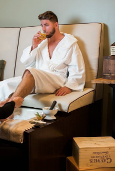 Dudes, you want this bourbon pedi for Valentine's Day