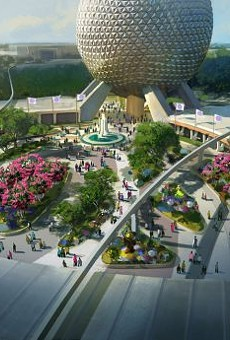 Epcot's planned redesigned entrance