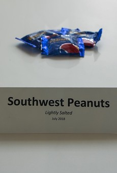 Orlando International Airport artwork remembers when Southwest Airlines served in-flight peanuts