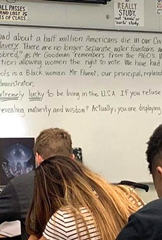 Florida teacher removed after viral whiteboard rant against students who don't stand for the pledge