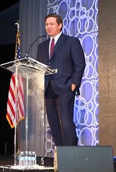 Gov. Ron DeSantis addresses the Florida League of Cities, Aug. 16, 2019