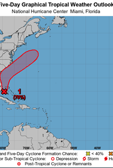 Tropical depression likely to form off the Florida coast this week